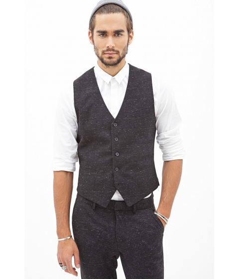 Imbracaminte Barbati Forever21 Flecked Woven Vest Charcoal heather
