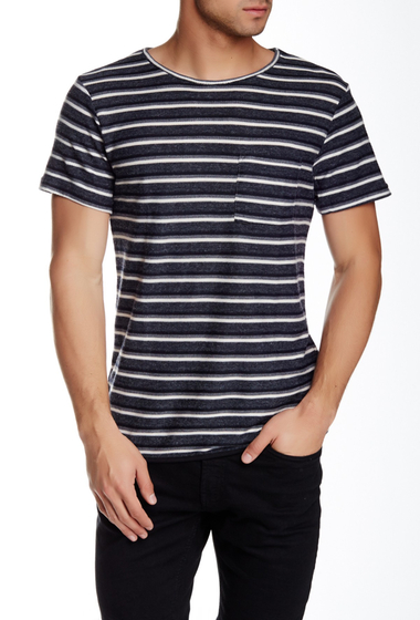 Imbracaminte Barbati NATIVE YOUTH Striped Tee GREY