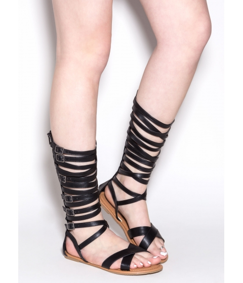 Incaltaminte Femei CheapChic Crossed Wires Gladiator Sandals Black