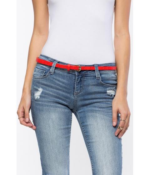 Accesorii Femei CheapChic Basic Buckle Skinny Belt Red