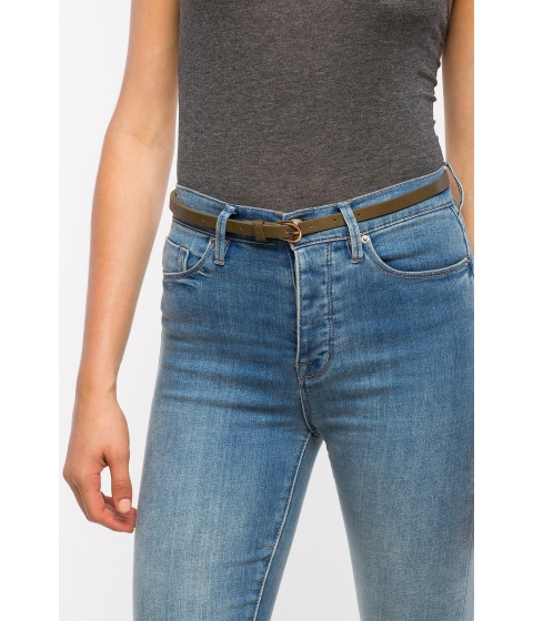 Accesorii Femei CheapChic Basic Buckle Skinny Belt Olive