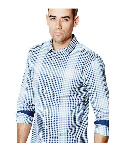 Imbracaminte Barbati GUESS Bening Plaid Shirt rock and blue