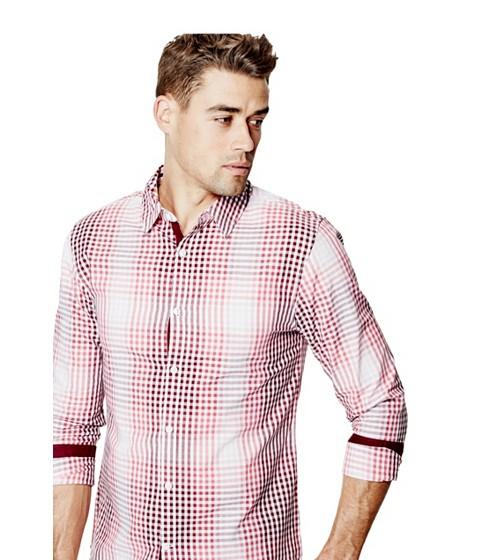 Imbracaminte Barbati GUESS Bening Plaid Shirt summer love pink