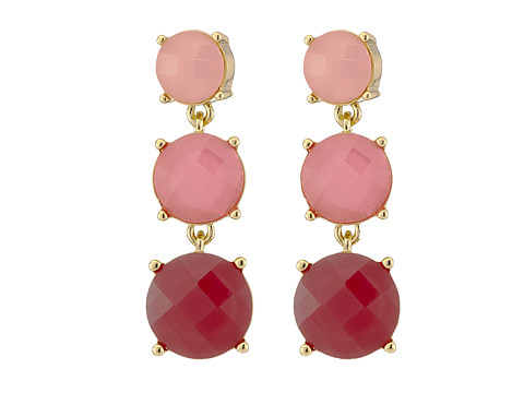 Bijuterii Femei Kate Spade New York Smell The Roses Linear Earrings Bright PinkMulti