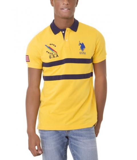 Imbracaminte Barbati US Polo Assn USA CHEST STRIPE Polo Shirt CAPE YELLOW