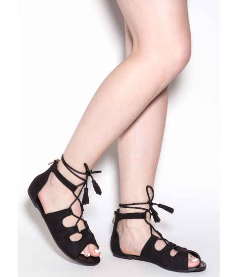 Incaltaminte Femei CheapChic Madly In Love Faux Suede Sandals Black