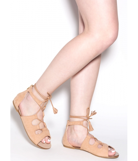 Incaltaminte Femei CheapChic Madly In Love Faux Suede Sandals Nude
