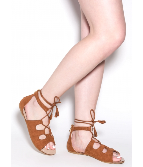 Incaltaminte Femei CheapChic Madly In Love Faux Suede Sandals Tan