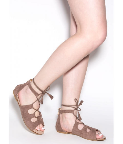 Incaltaminte Femei CheapChic Madly In Love Faux Suede Sandals Taupe