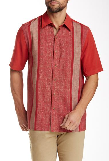 Imbracaminte Barbati Nat Nast Konica Regular Fit Short Sleeve Silk Sport Shirt GARNET