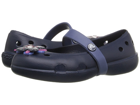 Incaltaminte Fete Crocs Keeley Springtime Flat PS (ToddlerLittle Kid) NavyBijou Blue