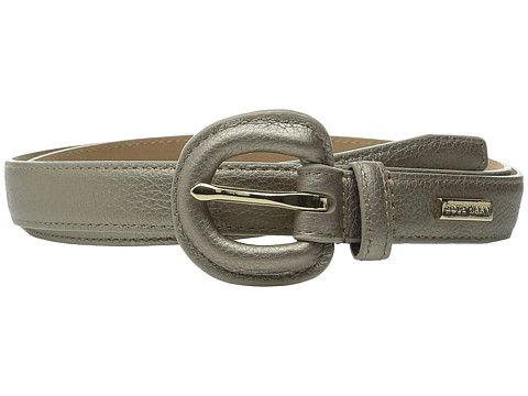 Accesorii Femei Cole Haan 25mm Metallic Pebble Belt with Self Covered Buckle Gold