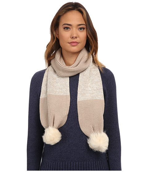 Accesorii Femei UGG Classic Marled Scarf w Sequins and Fur Pom Moonlight Multi