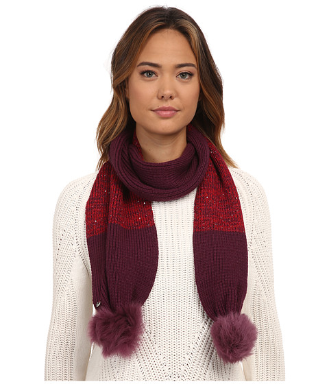 Accesorii Femei UGG Classic Marled Scarf w Sequins and Fur Pom Aster Multi