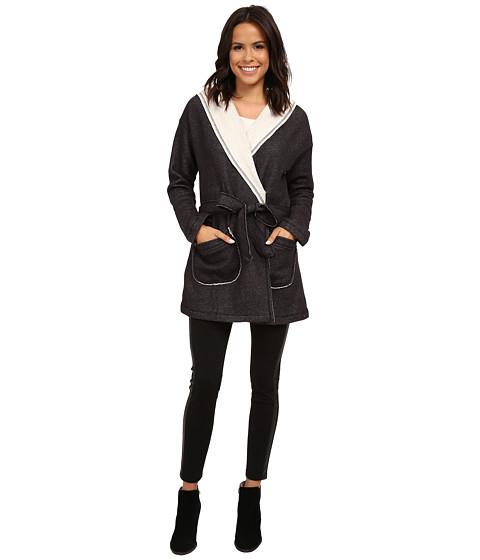 Imbracaminte Femei Sanctuary Fleece Wrap Jacket CharcoalNatural