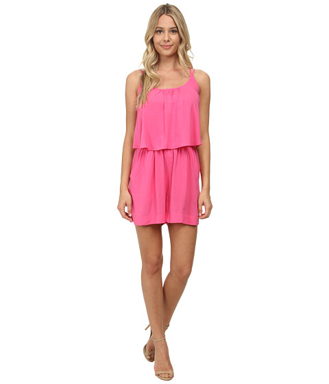 Imbracaminte Femei CC California Strappy Ruffle Solid Romper Shocking Pink