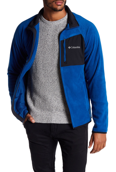 Imbracaminte Barbati Columbia Hat Rock Full Zip Fleece Jacket MARINE BLUE-BLACK