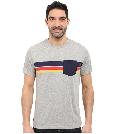 Imbracaminte Barbati US Polo Assn Chest Stripe Crew Neck Pocket T-Shirt Heather Grey