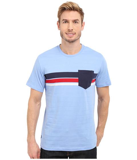 Imbracaminte Barbati US Polo Assn Chest Stripe Crew Neck Pocket T-Shirt Vista Blue