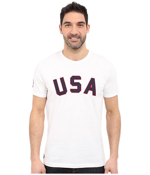 Imbracaminte Barbati US Polo Assn USA Crew Neck T-Shirt White