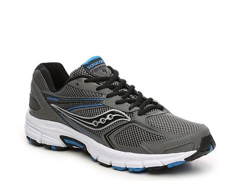 Incaltaminte Barbati Saucony Grid Cohesion 9 Running Shoe - Mens GreyBlackBlue