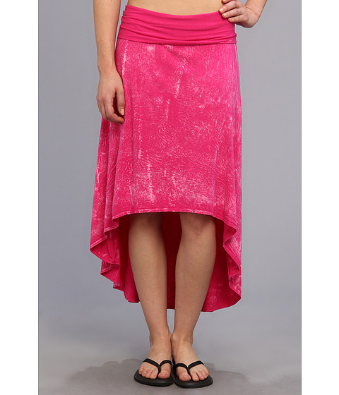 Imbracaminte Femei Pink Lotus High Low Skirt Flamingo Crackle
