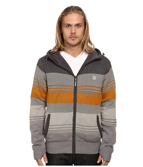 Imbracaminte Barbati Bench Declivity Zip Thru Hoodie Anthracite Marl