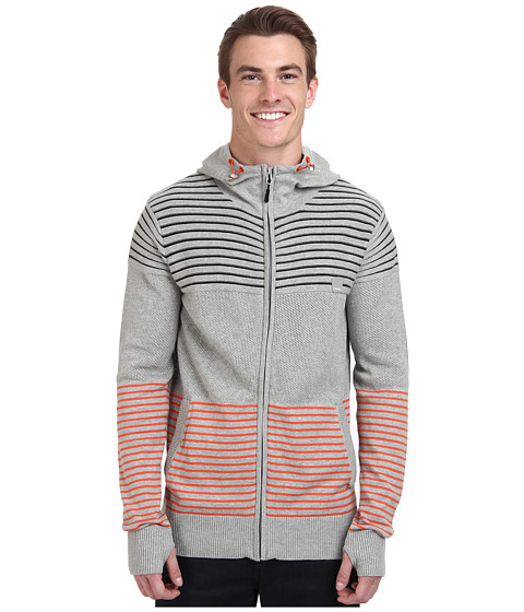 Imbracaminte Barbati Bench Gridlocked Hooded Knit Grey Marl