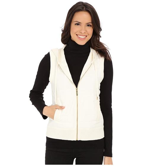 Imbracaminte Femei Michael Kors Puff Zip Front Vest Cream