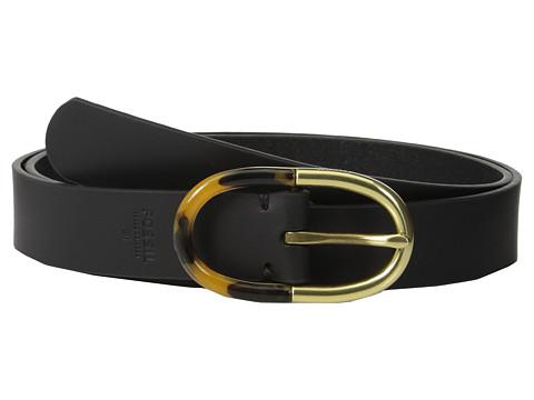 Accesorii Femei Fossil Two-Tone Centerbar Belt Black
