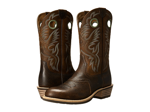 Incaltaminte Barbati Ariat Heritage Roughstock U Toe Brown Oiled Rowdy