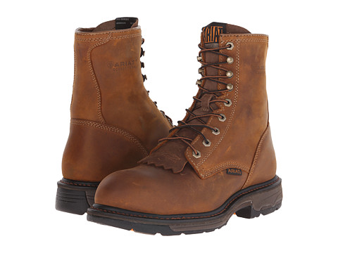 Incaltaminte Barbati Ariat Workhog 8quot Steel Toe Aged Bark