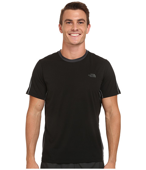 Imbracaminte Barbati The North Face Ampere Short Sleeve Crew Shirt TNF BlackAsphalt Grey