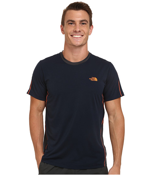 Imbracaminte Barbati The North Face Ampere Short Sleeve Crew Shirt Cosmic BlueAsphalt Grey