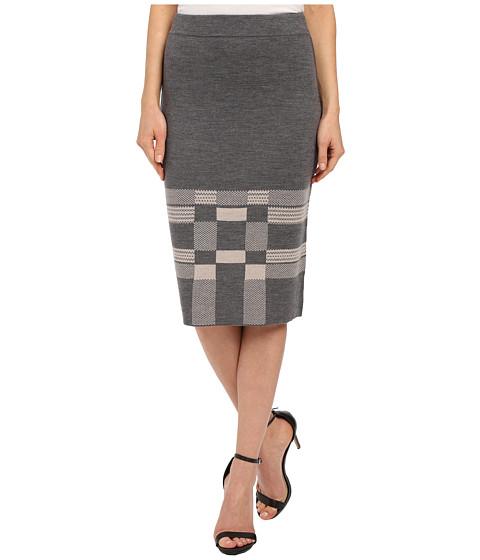 Imbracaminte Femei Pendleton Modern Geo Knit Skirt Grey HeatherFawn Heather