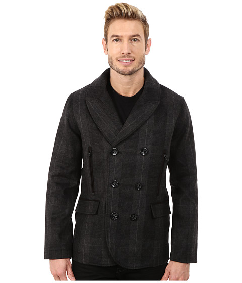 Imbracaminte Barbati Robert Graham O'Connor Peacoat Woven Outerwear Charcoal