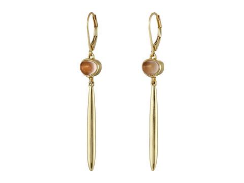 Bijuterii Femei Cole Haan Linear Stone Drop Earrings GoldRose Quartz