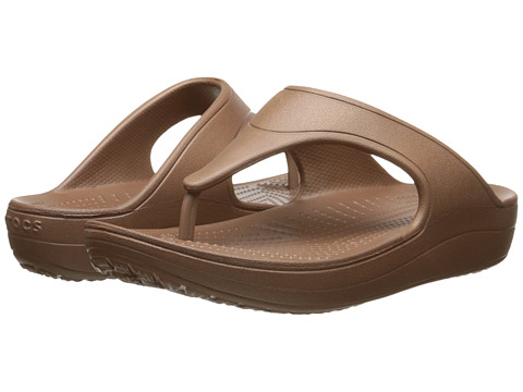 Incaltaminte Femei Crocs Sloane Platform Flip Bronze