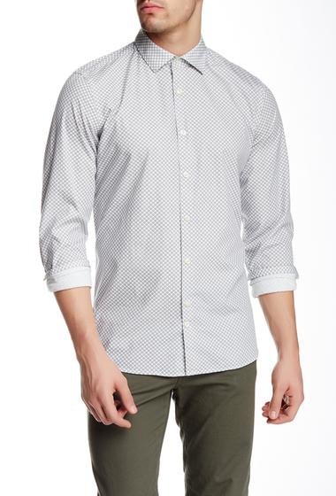 Imbracaminte Barbati J Lindeberg Dani 43 Tape Krill Print Long Sleeve Slim Fit Shirt DK NAVY