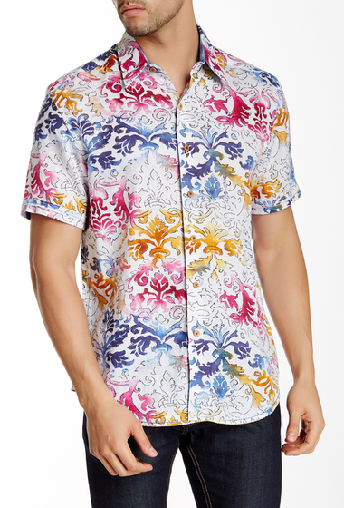 Imbracaminte Barbati Robert Graham Sea of Cortez Short Sleeve Linen Classic Fit Shirt MULTI