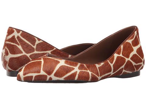 Incaltaminte Femei French Sole Peppy Cognac Giraffe Haircalf