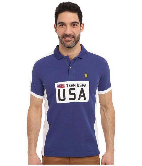 Imbracaminte Barbati US Polo Assn Sporty Authentic Slim Fit Pique Polo Shirt Marina Blue