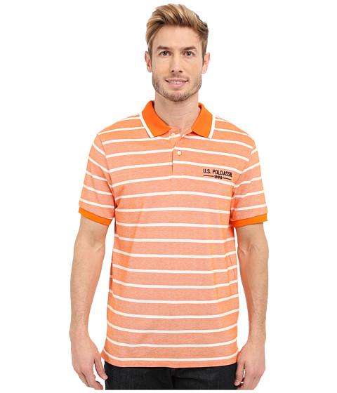 Imbracaminte Barbati US Polo Assn Embellished Pencil Stripe Polo Shirt Canoe Orange