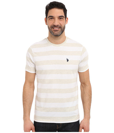 Imbracaminte Barbati US Polo Assn Stripe Crew Neck T-Shirt White