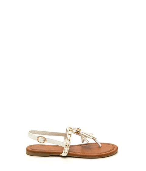 Incaltaminte Femei CheapChic Two-time Tassel Sandals White