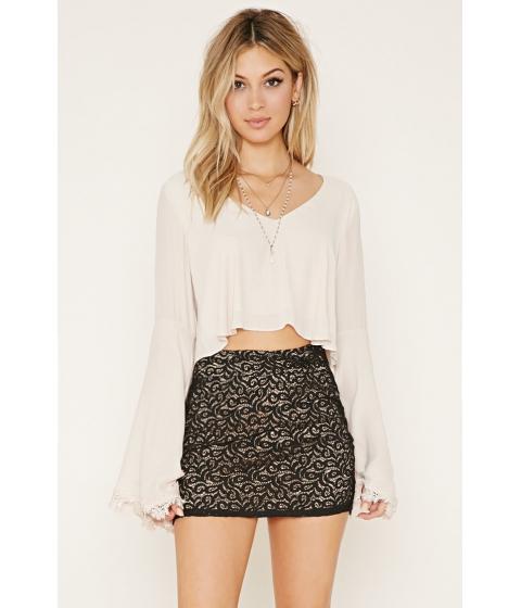Imbracaminte Femei Forever21 Lace Mini Skirt Black