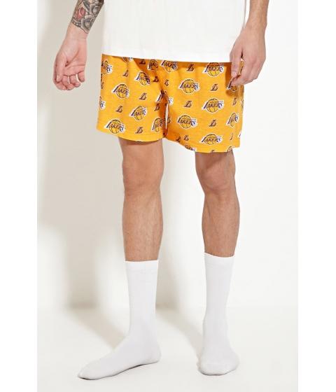 Imbracaminte Barbati Forever21 Los Angeles Lakers Boxers Yellowpurple