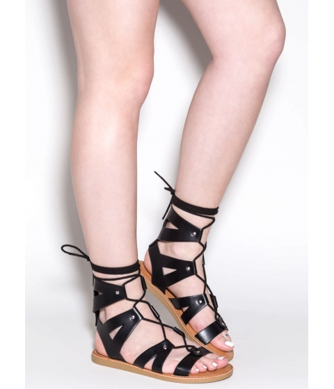 Incaltaminte Femei CheapChic Good For You Lace-up Sandals Black