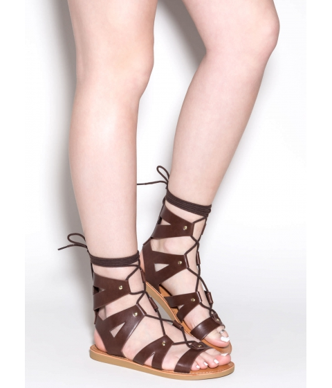Incaltaminte Femei CheapChic Good For You Lace-up Sandals Dkbrown