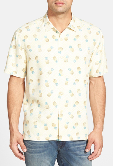 Imbracaminte Barbati Tommy Bahama A Lotta Colada Island Modern Fit Print Sport Shirt DARK VANILLA